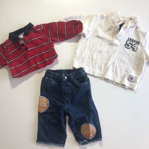 12 Month VINTAGE Place Baby Boy Basketball Set